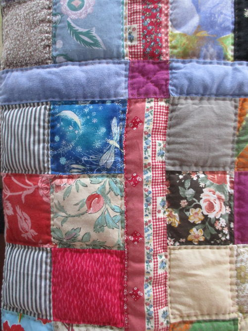 close look at some patchwork handicraft