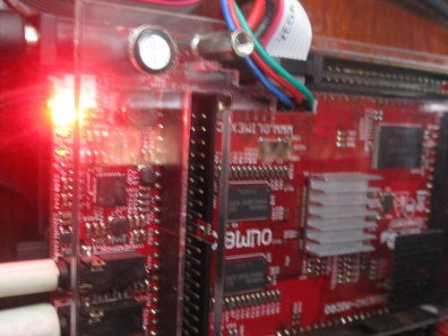 An Olimex A20 micro board working as a boat computer